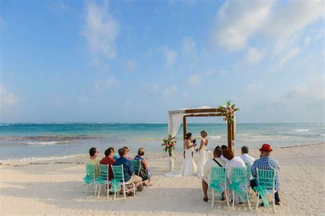 Two Brides Sunset Beach Destination Wedding