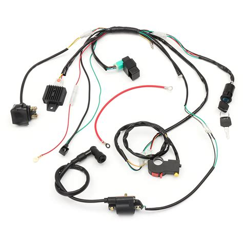 Atv Coil Wiring by Wiring Harness Loom Solenoid Coil Rectifier Cdi For 50cc