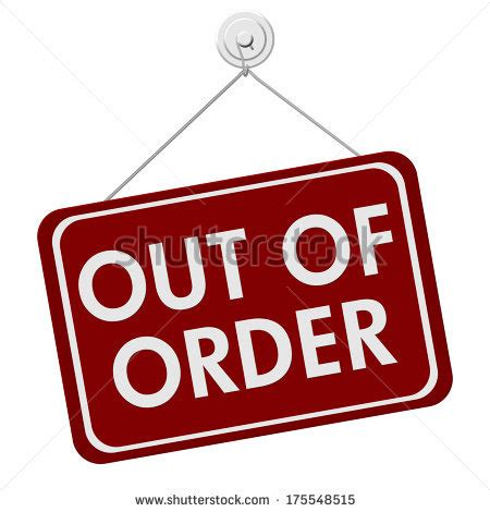 Broken Out Of Order Sign Stock Images, Royaltyfree Images