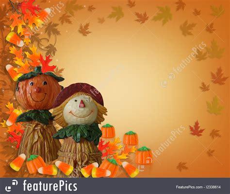 wallpaper border border pumpkin scarecrow stock