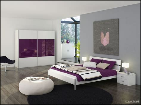 Purple And White Bedroom Decor Ideas by Grey Bedroom With Glass Sanctuary And Purple And White