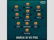 TEAM NEWS MSN start as Barcelona seek PSG comeback Goalcom