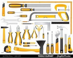 Yellow Tools Clipart Set, Tools Clip art, Digital Files ...