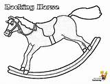 Coloring Horse Rocking Jolly Yescoloring sketch template