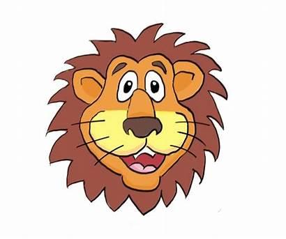 Lion Cartoon Cartoons Clipart Face Lions Head