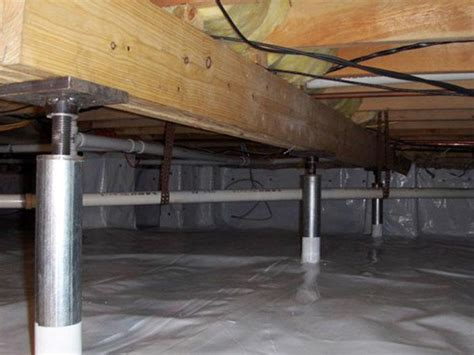 floor joist support jacks advanced basement systems crawl space repair photo album