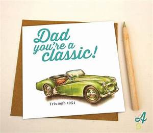 Father's Day Card Classic Car Dad Birthday Card Greeting ...