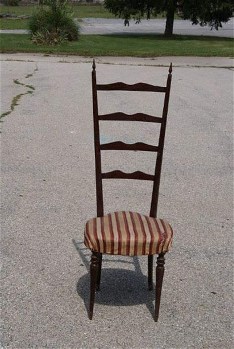 single 1950 s italian ladder back dining chairs for