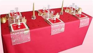 Table De Fete Decoration Noel : nos chemins de table couleur or d coration f te mariage ~ Zukunftsfamilie.com Idées de Décoration