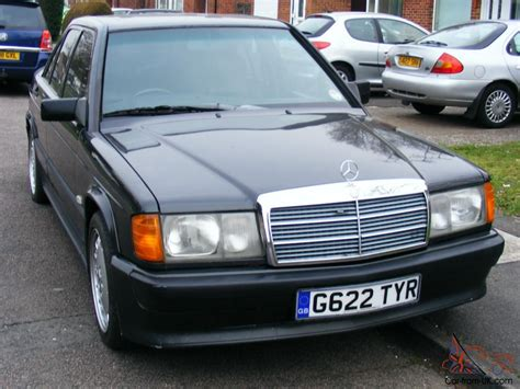 Mercedes benz e190 model 1989 cosworth body kit cosworth interior full black leather automatic seats the car has been fully resprayed all doors bumpers wings and even windows came of. 1989 MERCEDES 190E 2.5-16v BLACK Manual Cosworth