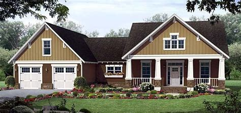 Southern Style House Plan 55601 with 3 Bed 3 Bath 2 Car