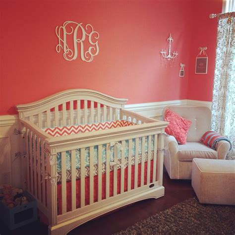 annsleys coral grey  aqua nursery nursery pinterest discover  ideas  gray baby girls   ojays