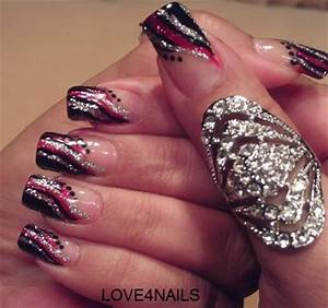 Images Of Black Red And Silver Nail Designs Golfclub