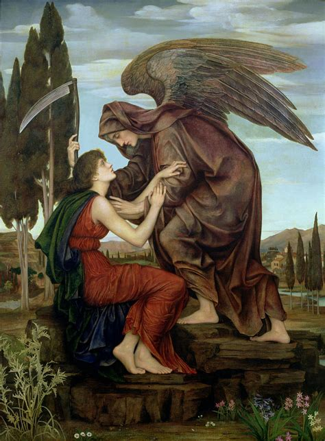 The Angel Of Death Painting By Evelyn De Morgan