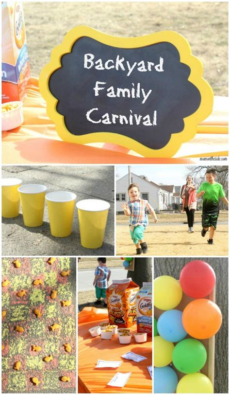 Backyard Carnivals by Backyard Family Carnival With Snacks And On