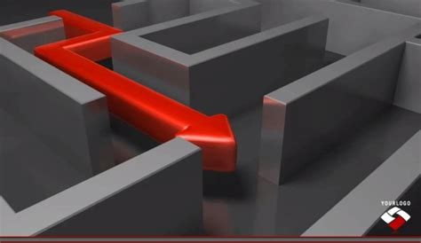 maze powerpoint template  video  animated arrow
