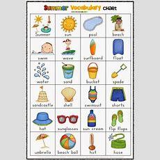 Free Summer Vocabulary Chart  Helps Keep Kids Writing!  Firstgradefacultycom Pinterest