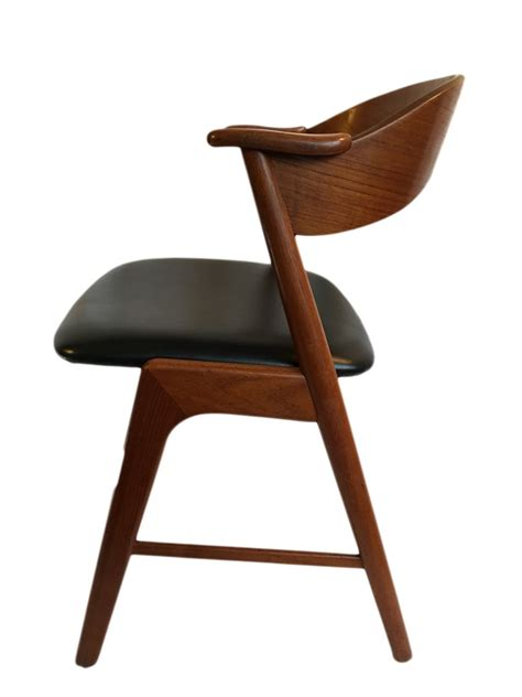 antique black dining chairs vintage teak and black leather dining chairs by 4075