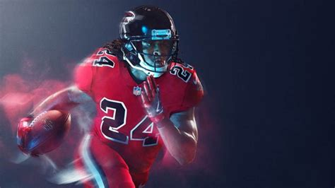 falcons wear  color rush game