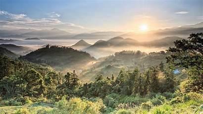 Sunrise Breathtaking Summer Mountain Desktop Wallpapers Backgrounds