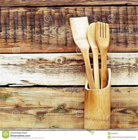 Kitchen Wooden Utensils Stock Image   Image: 34463971