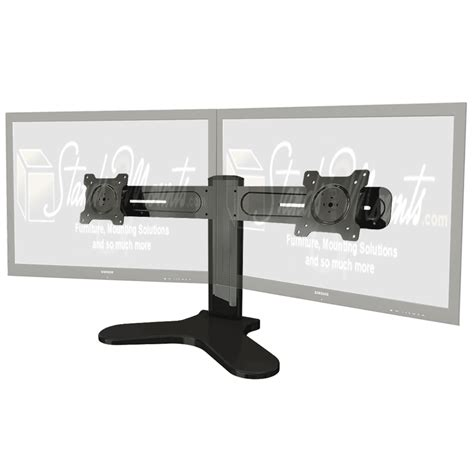 crimson dual monitor desktop stand for 10 24 inch screens black dsh2