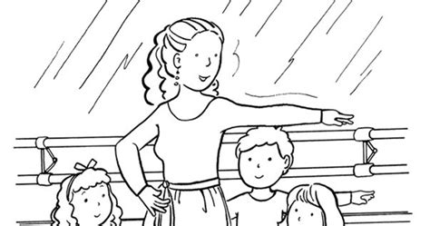 coloring activity pages ballet  position