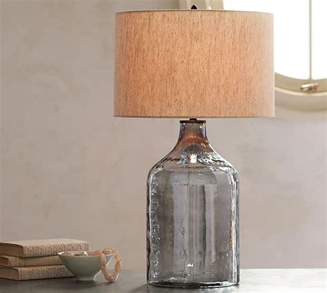 pottery barn glass l alana luster glass jug table l base indigo pottery barn