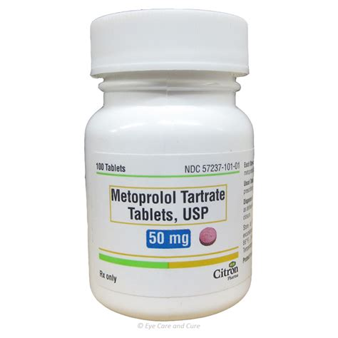 metoprolol tartrate 50 mg tablets