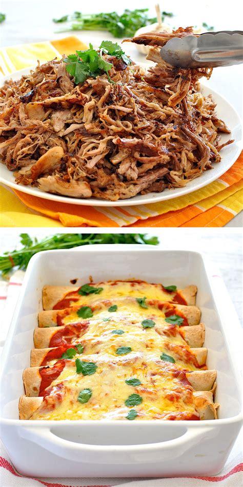 pork enchiladas pulled pork enchiladas pork carnitas recipetin eats
