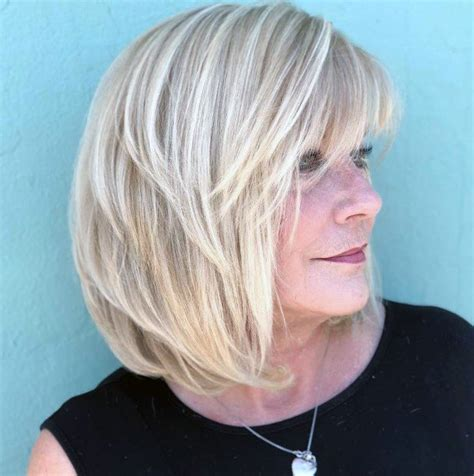 But if you do have a rounder face then i would suggest keeping the length in the front be somewhere past the chin so it elongates the face. Top 50 Best Medium Length Hairstyles For Women Over 50 ...