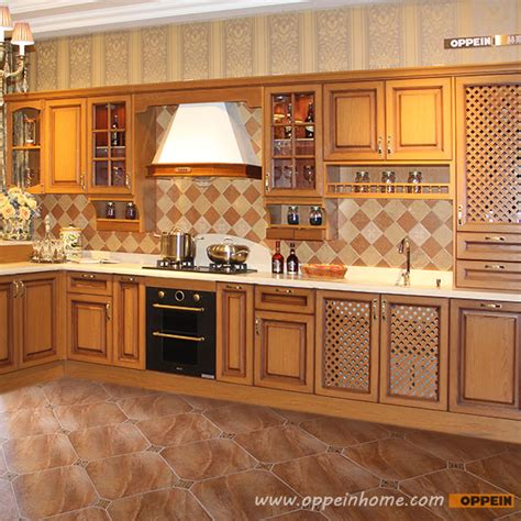 design customize solid wood kitchen cabinets