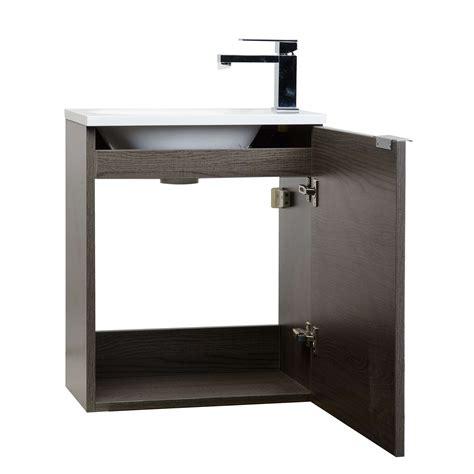 wall mounted vanity buy 20 inch wall mounted bathroom vanity set rs l500 oak