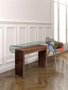Console Verre Et Bois : console moderne une cinquantaine d 39 id es de meubles et conseils d co ~ Teatrodelosmanantiales.com Idées de Décoration