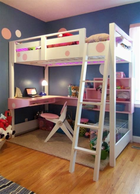 Bunk Bed With Desk And Futon Ikea by Kinderzimmer Mit Hochbett Einrichten F 252 R Eine Optimale