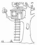 Treehouse Coloring Tree Cartoon Printable Simple Colouring Bestcoloringpagesforkids Cool Related Afkomstig Ie Google sketch template
