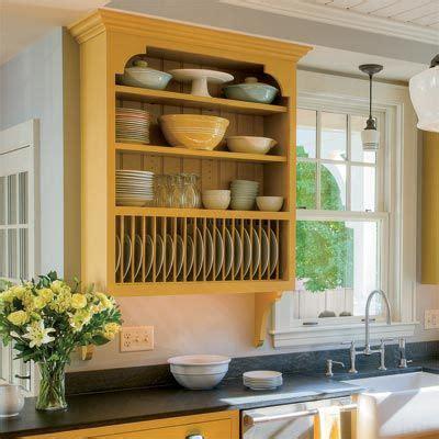 kitchen cabinets plate racks crown  shelves