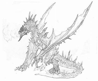 Dragon Coloring Pages Magic Skyrim Printable Strongest