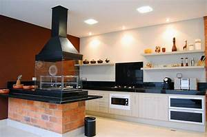 photo gt une cuisine americaine avec barbecue d39interieur With cuisine americaine photos