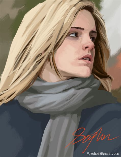 Stephen Tsai Digital Painting Emma Watson