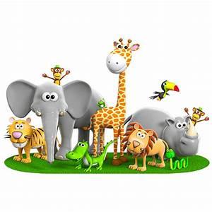 Stickers Animaux De La Jungle : sticker mural animaux de la jungle ~ Mglfilm.com Idées de Décoration
