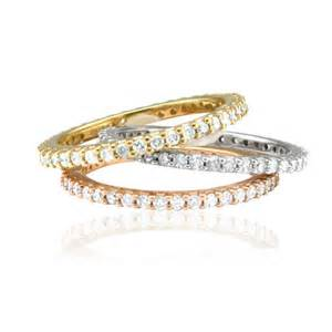 stackable wedding bands 60ct eternity ring stackable wedding band by pompeii3