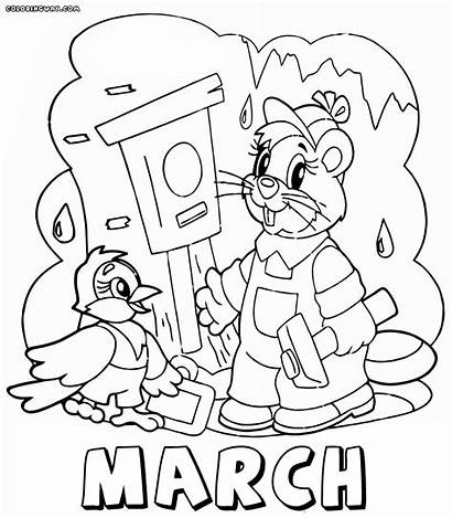 Month Coloring Pages Months March Colorings