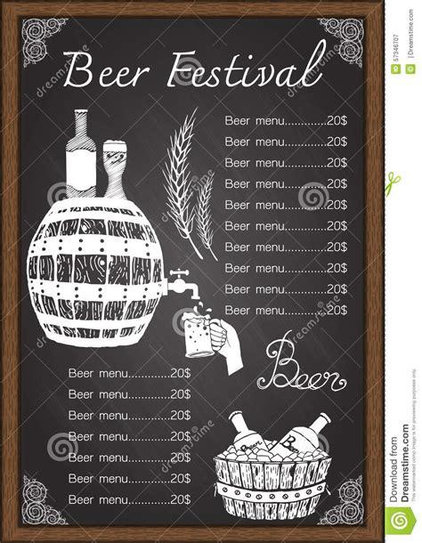 chalkboard logo templates free beer menu drink menu on chalkboard template stock vector