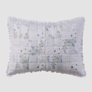 simply shabby chic patchwork curtain laundered simply shabby chic blue patchwork 1 standard sham garden stripe rachel ashwell target