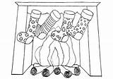 Fireplace Coloring Pages Fireplace3 sketch template