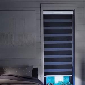 Store Enrouleur Bois : store jour nuit noir occultant ~ Premium-room.com Idées de Décoration