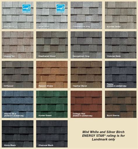 shingle colors landmark series shingles colors decorating shingle