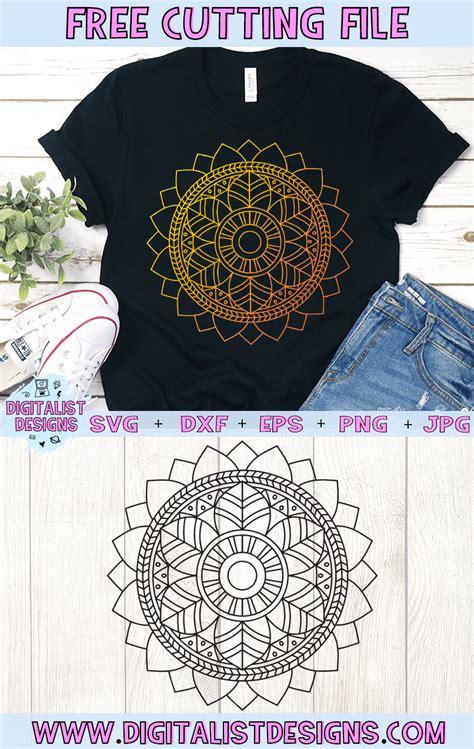 Download 3d sunflower mandala layered paper art svg dxf cricut laser (779826) today! Free Mandala SVG | DigitalistDesigns