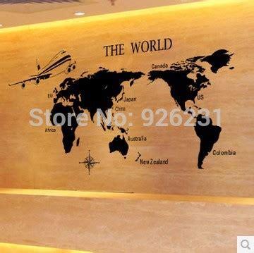 aliexpress buy free shipping world map wall stickers school classroom study corporate